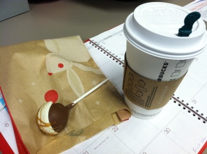 Chai lattes and cake pops just make me happy.